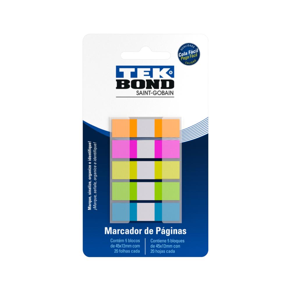 Marcador de Páginas Colorido 5 blocos 45x12mm